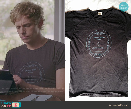 Jonathan Wilson Fanfare T-shirt worn by Chris Geere on You're the Worst