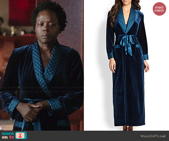 Jonquil Velvet Robe worn by Viola Davis on HTGAWM