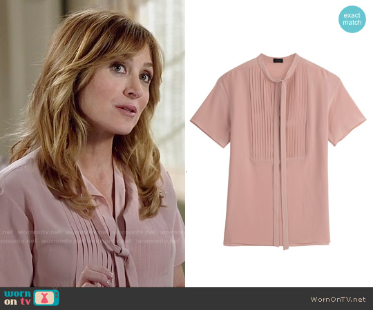Joseph Silk Crepe Top worn by Sasha Alexander on Rizzoli & Isles