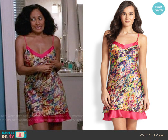 Josie Ari Printed Satin Chemise worn by Tracee Ellis Ross on Blackish