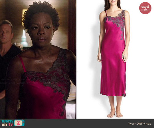 Josie Natori Lolita Lace Trimmed Gown worn by Viola Davis on HTGAWM