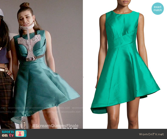Jovani Sleeveless Asymmetric Cocktail Dress worn by Lea Michele on Scream Queens