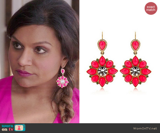Juicy Couture Cabochon Drop Earrings worn by Mindy Lahiri on The Mindy Project