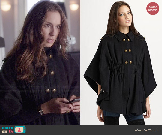 Juicy Couture Camper Cape worn by Troian Bellisario on PLL