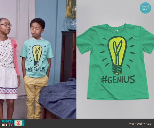 Junk Food Clothing Monopoly #Genius Tee worn by Miles Brown on Blackish