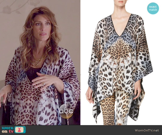 Just Cavalli Leopard Print Caftan worn by Jennifer Esposito on Mistresses