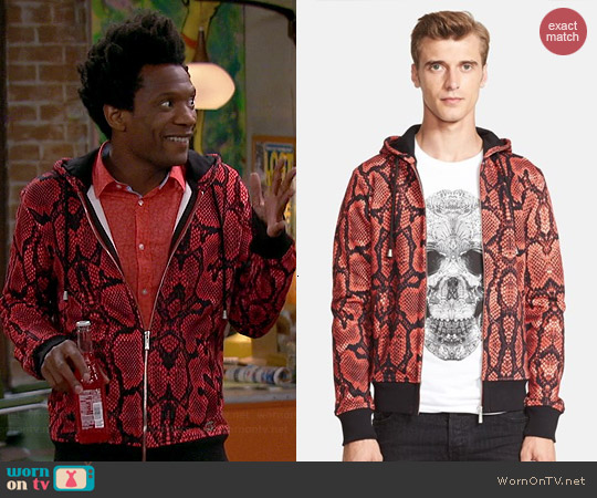 Just Cavalli Snake Print Hoodie worn by Seaton Smith on Mulaney
