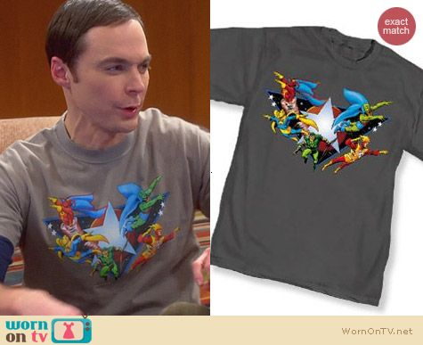 Justice League Tshirt worn by Jim Parsons on The Big Bang Theory