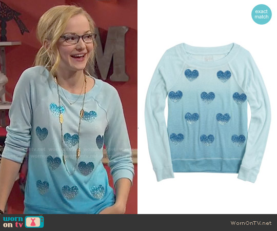 Justice Super Soft Foil Icon Top worn by Dove Cameron on Liv & Maddie