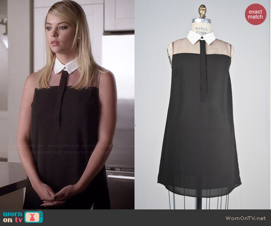 Kaii Candice Organza Sleeveless Top worn by Ashley Benson on PLL