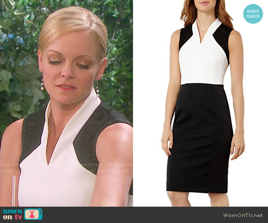 Karen Millen Broderie Inset Sheath Dress worn by Martha Madison on Days of our Lives