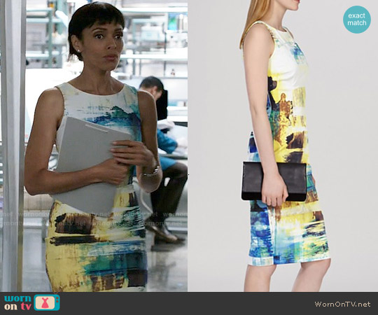 Karen Millen Mineral Print Dress worn by Tamara Taylor on Bones