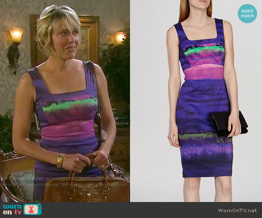 Karen Millen Painterly Stripe Signature Stretch Dress worn by Arianne Zucker on Days of our Lives