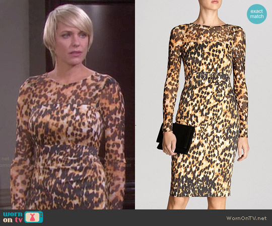 Karen Millen Animal Print Dress worn by Arianne Zucker on Days of our Lives