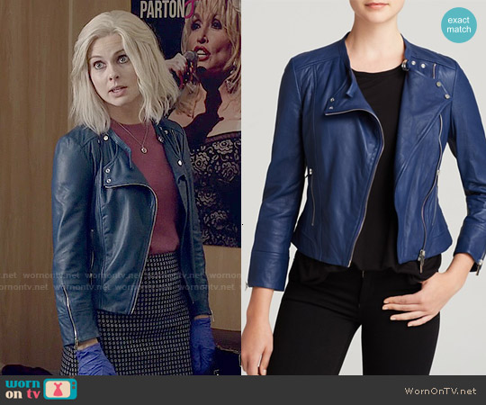 Karen Millen Biker Jacket worn by Rose McIver on iZombie