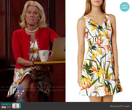 Karen Millen Bird of Paradise Print Dress worn by Alley Mills on The Bold & the Beautiful