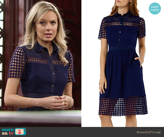 Karen Millen Broderie Dress worn by Melissa Ordway on The Young & the Restless