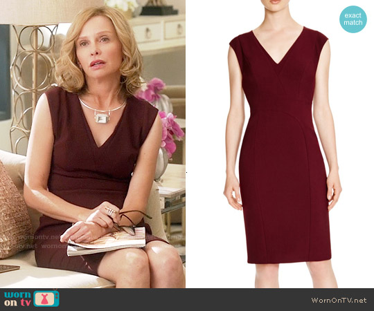 Karen Millen Tailored Pencil Dress worn by Calista Flockhart on Supergirl