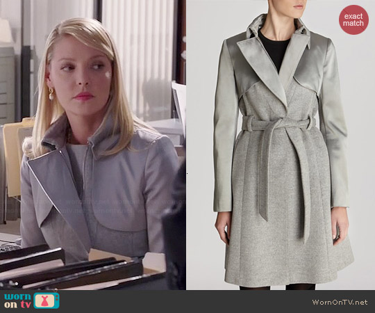 Karen Millen Classic Investment Coat worn by Katherine Heigl on State of Affairs
