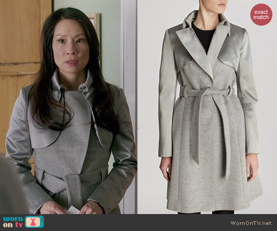 Karen Millen Classic Investment Collection Coat worn by Lucy Liu on Elementary