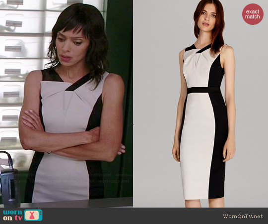 Karen Millen Graphic Colorblock Dress worn by Tamara Taylor on Bones