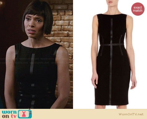 Karen Millen Contrast Panelled Shift Dress worn by Tamara Taylor on Bones