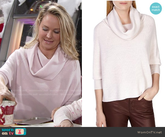 Karen Millen Cowl Neck Sweater worn by Sharon Case on The Young & the Restless