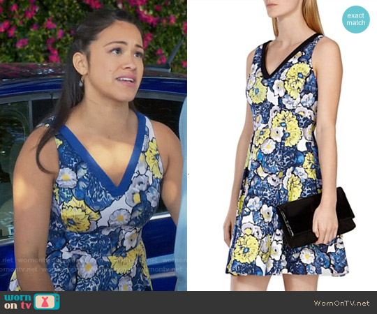 Karen Millen Daisy Print Dress worn by Gina Rodriguez on Jane the Virgin