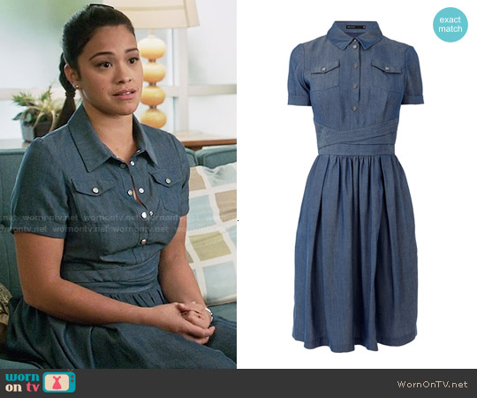 Karen Millen Denim Chambray Shirtdress worn by Gina Rodriguez on Jane the Virgin