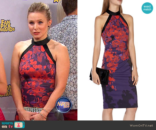 Karen Millen Floral Print Dress worn by Kristen Bell on Liv & Maddie
