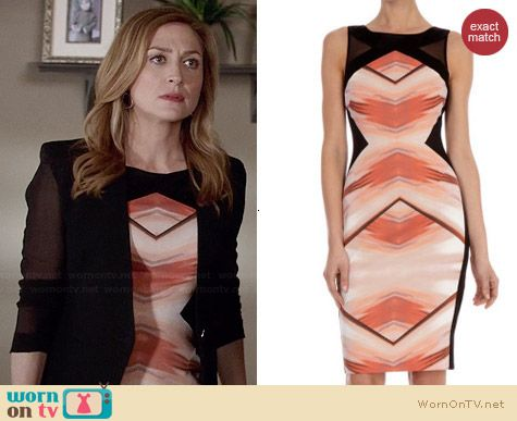 Karen Millen Geometric Print Shift Dress worn by Sasha Alexander on Rizzoli & Isles