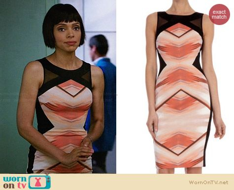 Karen Millen Geometric Print Shift Dress worn by Tamara Taylor on Bones
