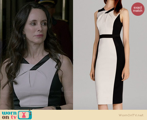 Karen Millen Graphic Color Block Dress worn by Madeleine Stowe on Revenge