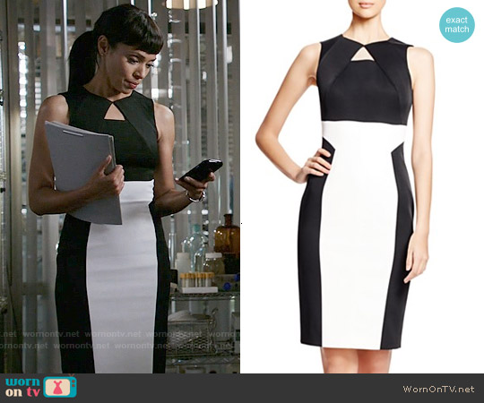 Karen Millen Graphic Signature Pencil Dress worn by Tamara Taylor on Bones
