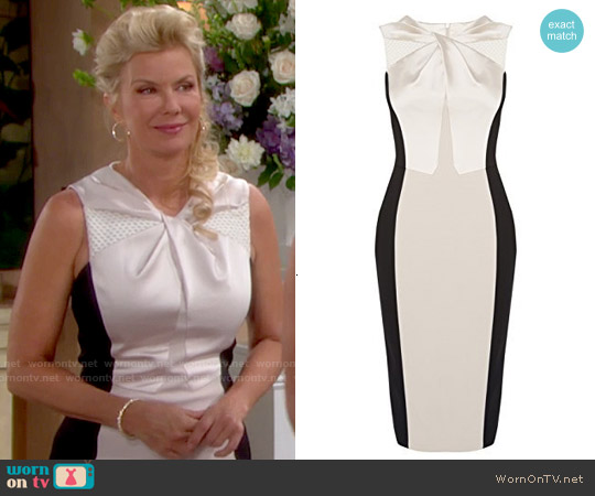 Karen Millen Knot Front Dress worn by Katherine Kelly Lang on The Bold & the Beautiful