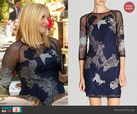 Karen Millen Lace Embroidered Illusion Dress worn by Kristen Bell on House of Lies