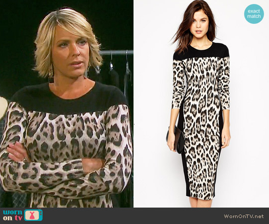 Karen Millen Leopard Print Dress worn by Arianne Zucker on Days of our Lives