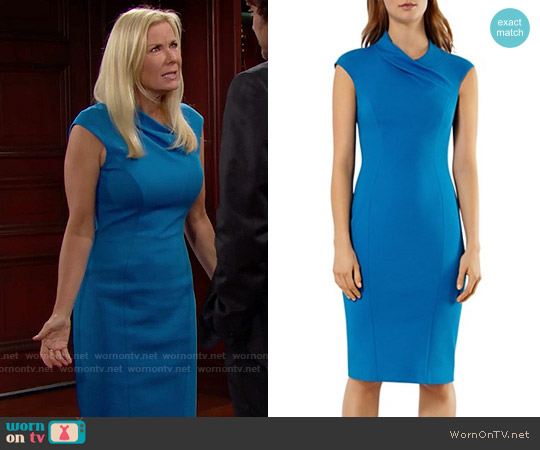 Karen Millen Sheath Dress worn by Katherine Kelly Lang on The Bold & the Beautiful
