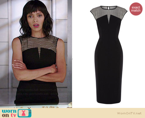 Karen Millen Silk Panelled Shift Dress worn by Tamara Taylor on Bones