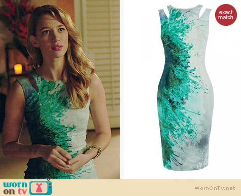 Karen Millen Splash Print Dress worn by Yael Grobglas on Jane the Virgin