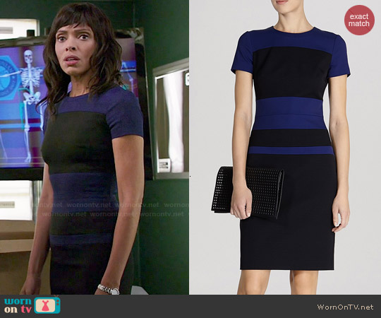 Karen Millen Sporty Color Block Dress worn by Tamara Taylor on Bones