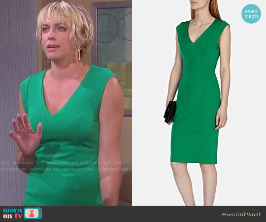 Karen Millen Green Structured Pencil Dress worn by Arianne Zucker on Days of our Lives