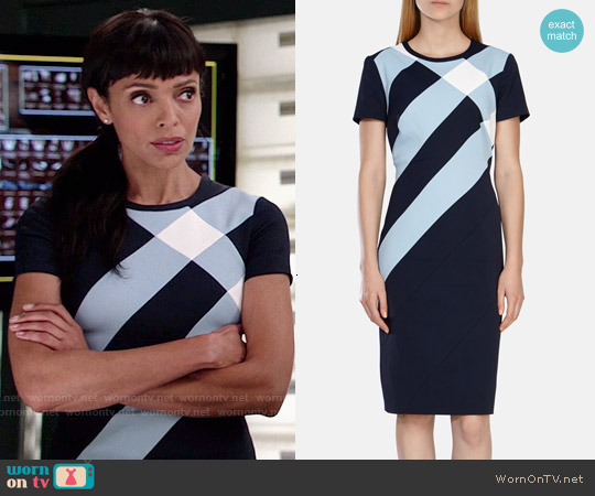 Karen Millen Tailored Panel Check Dress worn by Tamara Taylor on Bones
