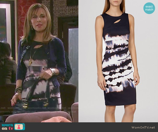 Karen Millen Tie-Dye Signature Stretch Dress worn by Lauren Koslow on Days of our Lives