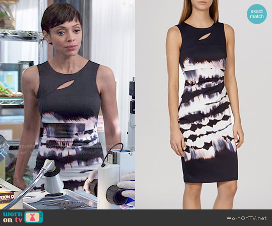 Karen Millen Tie Dye Signature Stretch Dress worn by Tamara Taylor on Bones