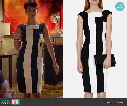 Karen Millen Vertical Stripe Panelled Dress worn by Grace Gealey on Empire