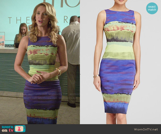 Karen Millen Wide Brushstroke Print Dress worn by Yael Grobglas on Jane the Virgin