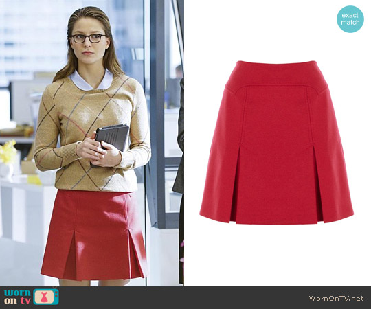 Karen Millen Wool Mini Skirt worn by Kara Danvers on Supergirl
