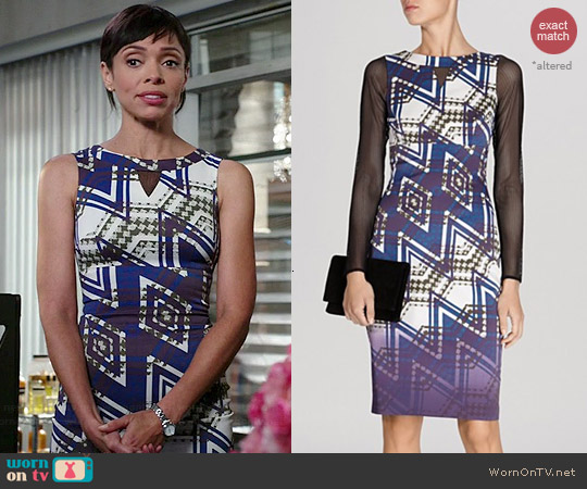 Karen Millen Zig Zag Check Dress worn by Tamara Taylor on Bones