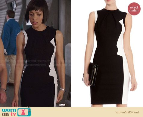 Karen Millen Zig Zag Graphic Pencil Dress worn by Tamara Taylor on Bones